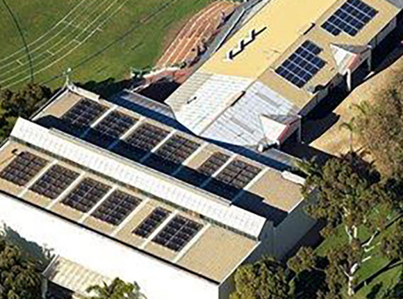 Newman College; Churchlands – 30kW GC  Suntech & Solyndra combined